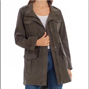 Bagatelle Collection Green Utility Anorak Jacket